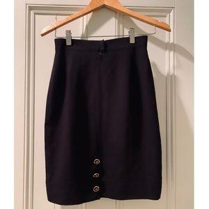 Chanel Vintage Pencil Skirt, Blk, Size FR 36/ US 2